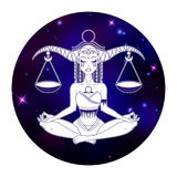 Libra zodiac sign, horoscope symbol, vector illustration Royalty Free Stock Photos