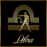 Libra zodiac star sign Stock Photography