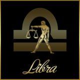 Libra zodiac star sign. Background of libra sign for horoscope royalty free illustration