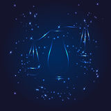 Libra zodiac whith glitter star Royalty Free Stock Photo