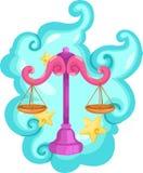 libraen undertecknar zodiac Royaltyfri Bild
