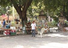 Libraio al bookmarket usato a Avana Fotografia Stock Libera da Diritti