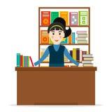 Libraio alla libreria illustrazione vettoriale