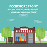 Librairie Front Vector Illustration Images libres de droits