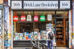 Librairies de ruelle de brique, un détaillant indépendant dans Shoreditch Image libre de droits