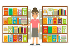 Librarian or seller at the bookshop. Royalty Free Stock Photos