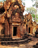 Libraries at the Banteay Srei temple Royalty Free Stock Photography