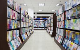 The Library. Shelves full of books in a library Royalty Free Stock Photos
