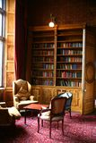 Library. With books and furniture in historic building Royalty Free Stock Photos