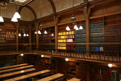 Library. A library room with intricate architecture royalty free stock photo