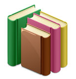 Library. Group of books. Vector illustration royalty free illustration