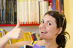 Into a Library Royalty Free Stock Image