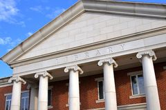 Library. University Library with imposing columns Royalty Free Stock Photography