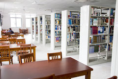 Library 9. Many books on shelves  in a library Stock Images