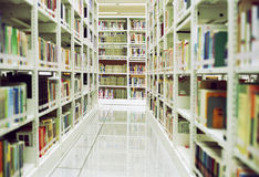 Library Aisle Royalty Free Stock Photo