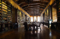 Library with ancient books of the Santo Domingo convent Royalty Free Stock Image