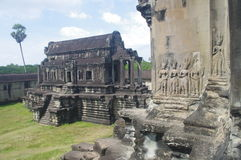 Library in Angkor Wat stock photography