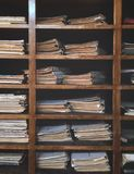 Library archive of old documents. Library archive of very old documents royalty free stock photo