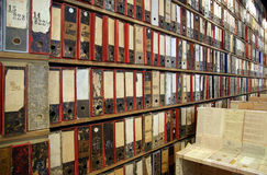 Library archives  Stock Image