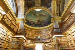The library at the Assemblee Nationale, Paris, France Royalty Free Stock Photos