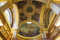The library at the Assemblee Nationale, Paris, France Royalty Free Stock Images