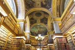 The library at the Assemblee Nationale, Paris, France Royalty Free Stock Photo