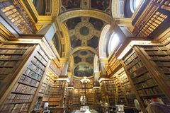 The library, Assemblee Nationale, Paris, France Royalty Free Stock Images