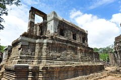 Library of Bayon Temple in Cambodia Royalty Free Stock Photo