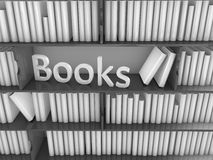Library book rack Stock Photography