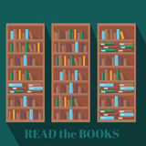 Library book shelf background Royalty Free Stock Images