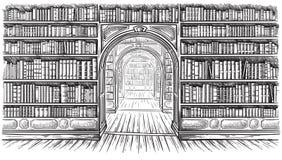 Free Library Book Shelf Interior Graphic Sketch Black White Illustration Vector Stock Photos - 137559173