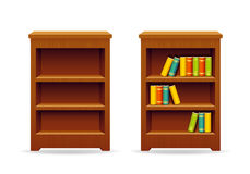 Library bookcase education and knowledge Stock Images