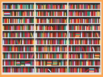 Library bookcase full of books Royalty Free Stock Images