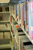 Library Books. On a shelf Royalty Free Stock Photos