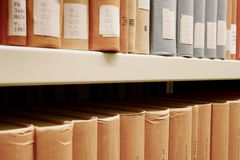 Library books Stock Image