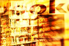 Library books. Abstract composition with Colorful books on a public library shelves. shot with a special effect lens. Combined with typography and texts Stock Photography