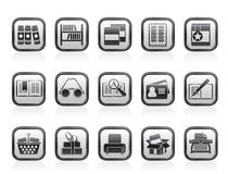 Library and books Icons Stock Photography