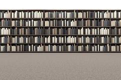 Library Bookshelf Aisle Stock Image