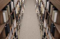 Library Bookshelf Aisle Royalty Free Stock Image