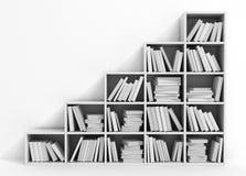 Library bookshelf full of books. Stock Image