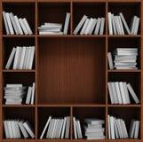 Library bookshelf full of books. Stock Photo