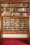 Library bookshelf passage Royalty Free Stock Photo