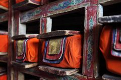 Library in Buddhist monastery Royalty Free Stock Image