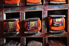 Library in Buddhist monastery Royalty Free Stock Photo