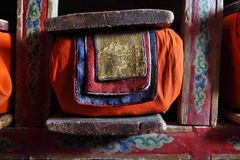 Library in Buddhist monastery Stock Photo