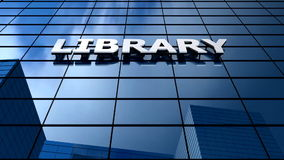 Library building blue sky timelapse. stock video footage