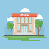 Library building. Library building with landscape. Concept of study and education royalty free illustration