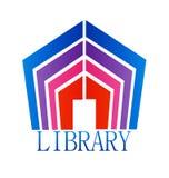 Library building vector. Design illustration royalty free illustration