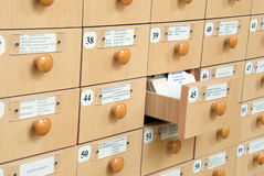 Library Card Catalog Royalty Free Stock Photos