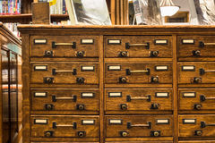 Library Card Catalog Stock Photos